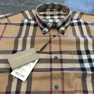 new BURBERRY LONDON SHIRT %100 COTTON BRAND NEW